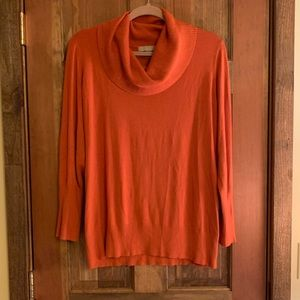 One A Dark Orange Cowlneck Sweater - Size 1X